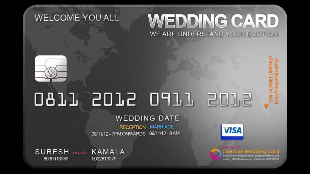 undangan pernikahan unik bentuk kartu atm - modisontico