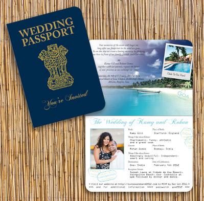 undangan pernikahan unik bentuk pasport - shaadisagacom