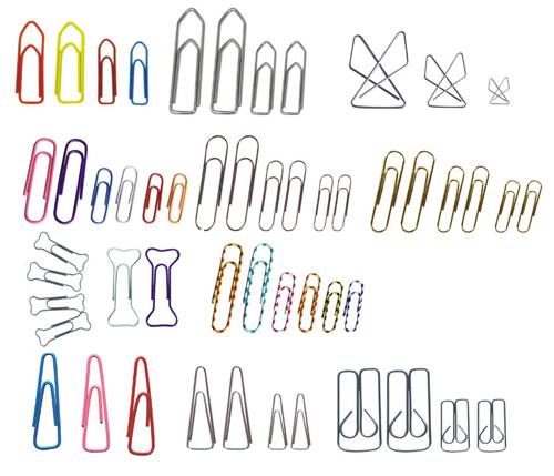 peralatan kantor- aneka jenis dan bentuk Paper-Clip