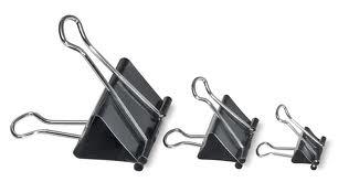 peralatan kantor - binder-clip dengan berbagai ukuran
