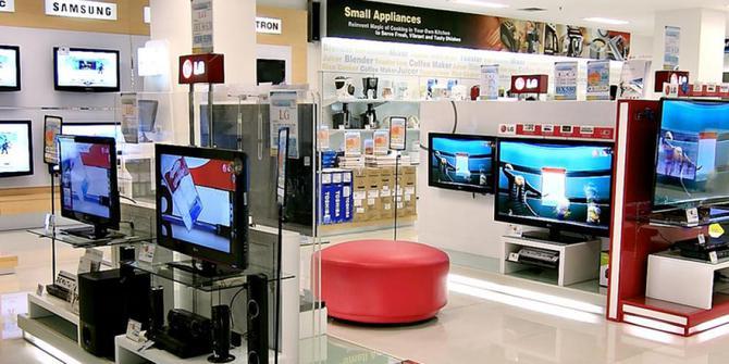 Gerai elektronik di pusat perbelanjaan
