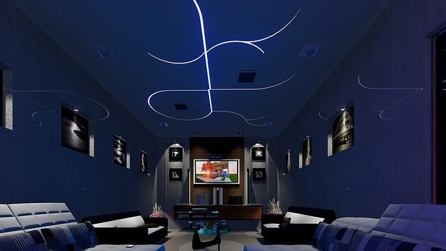 Ruang karaoke untuk menonton film