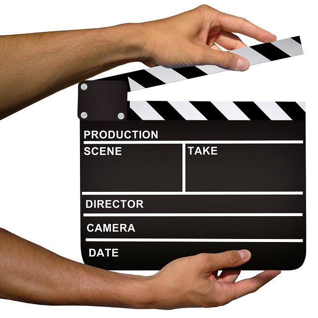clapperboard yang digunakan untuk produksi film