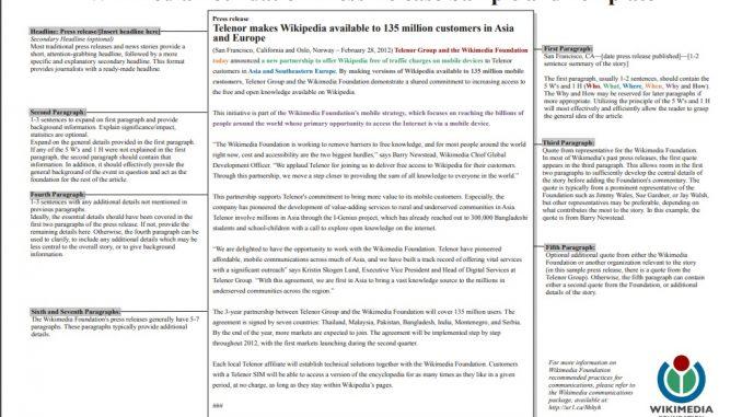 format press release