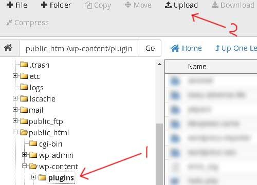 instal plugin wordpress lewat cpanel