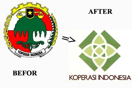 logo koperasi lama dan baru