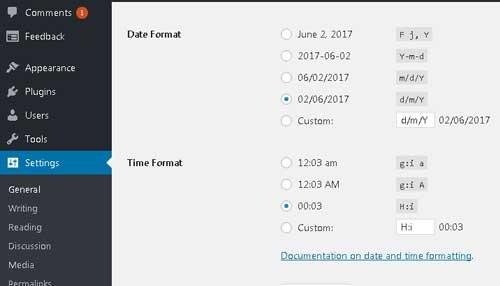 mengatur timezone website wordpress baru