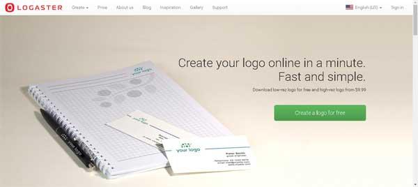 logaster situs pembuat logo gratis