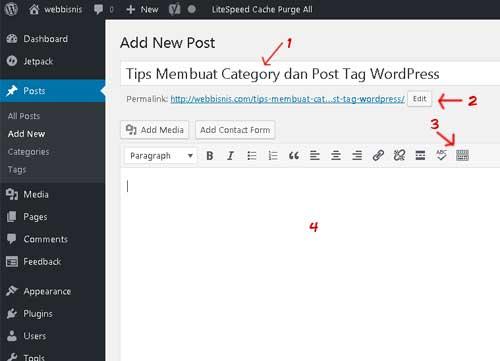 tips menulis artikel di wordpress