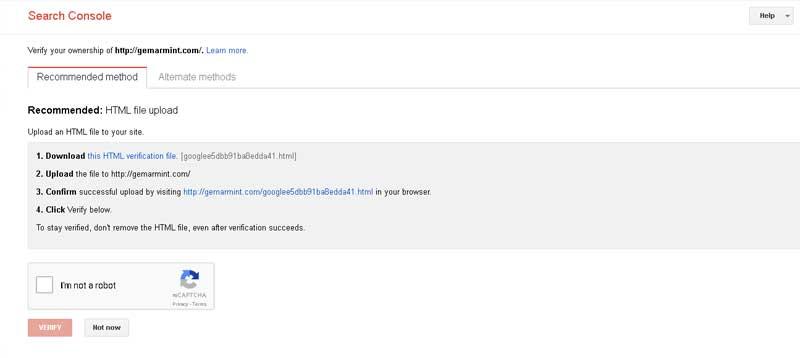 verifikasi situs di google webmaster