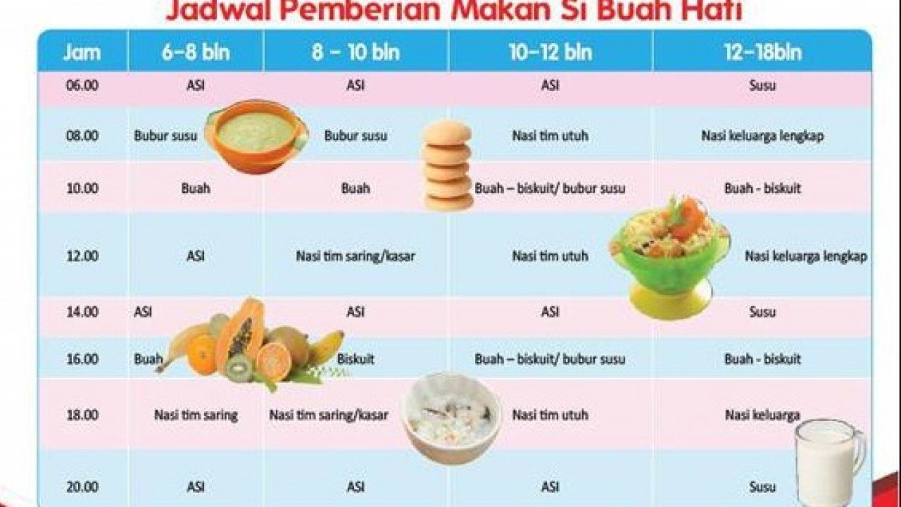Jadwal Makan Dan Menu Makanan Bayi 6 Bulan Tumpi Id