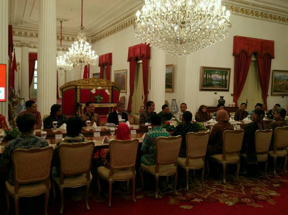 Undangan Presiden Jokowi di Istana Negara