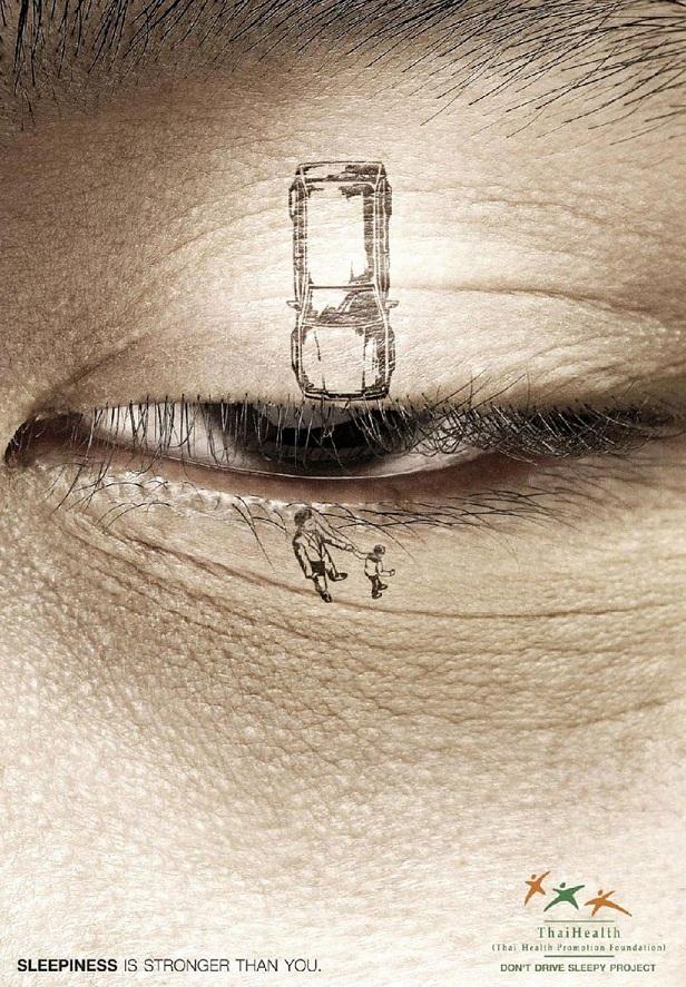 Contoh iklan layanan masyarakat berkendara mengantuk