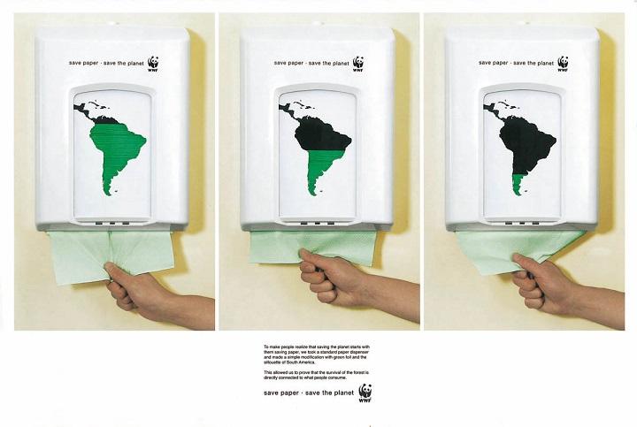 Iklan Layanan Masyarakat save paper save the planet